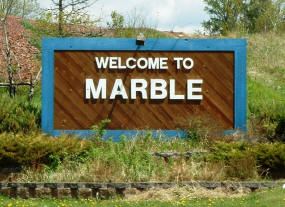 Marble Minnesota Welcome Sign