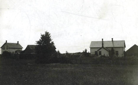 Remains of chapel (center building on Kapsner farm) built by Father Francis Pierz in Rich Prairie (now Pierz) Minnesota, 1909