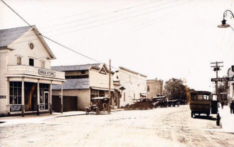 Main Street, Pierz Minnesota, 1921