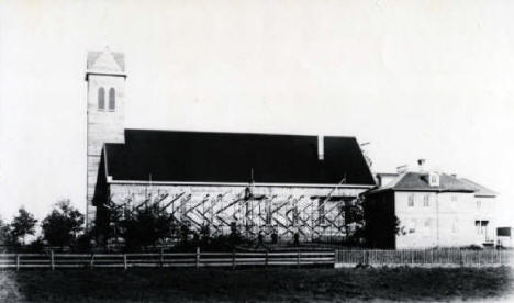 Rich Prairie Church and Parsonage, Rich Prairie (now Pierz) Minnesota, 1887