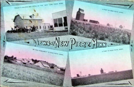 Multiple Views of Pierz Minnesota, 1914