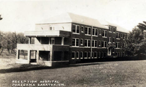 Reception Hospital, Pokegama Sanitorium, Pine City Minnesota, 1930's