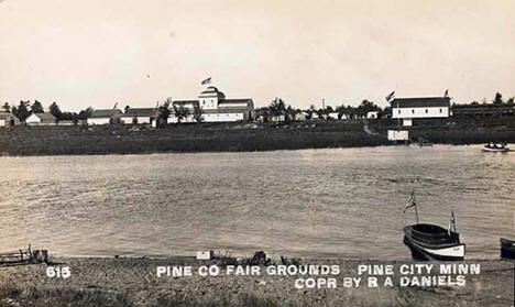 Pine County Fair Grounds at Pine City Minnesota, 1915