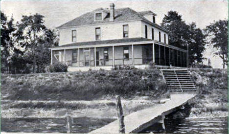 Wilke Hotel, Lake Pokegema, Pine City Minnesota, 1913