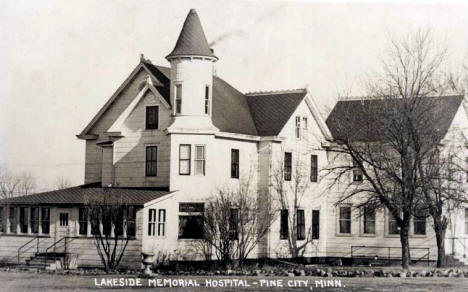 Lakeside Memorial Hospital, Pine City Minnesota, 1946