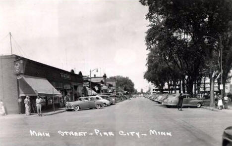 Main Street, Pine City, Minnesota, 1952