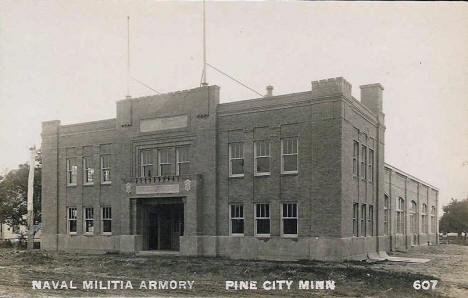 Armory at Pine City Minnesota, 1940's?