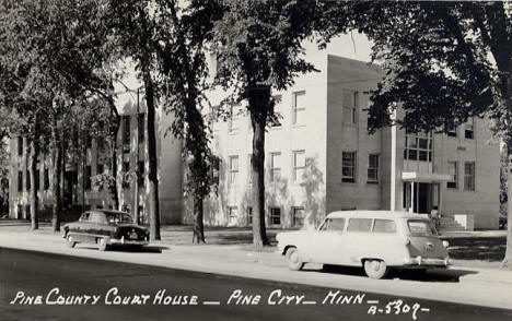 Pine County Court House, Pine City Minnesota, 1950's