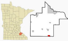 Location of Pine Island, Minnesota