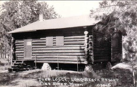Deer Lodge, Long Beach Resort, Pine River Minnesota, 1950's?