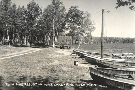 Twin Pine Resort, Pine River Minnesota, 1957