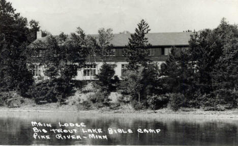 Main Lodge, Big Pine Lake Bible Camp, Pine River Minnesota, 1950