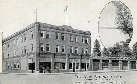 The New Spurrier Hotel, Pine River Minnesota, 1922