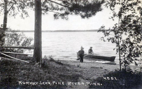 Norway Lake, Pine River Minnesota, 1940's