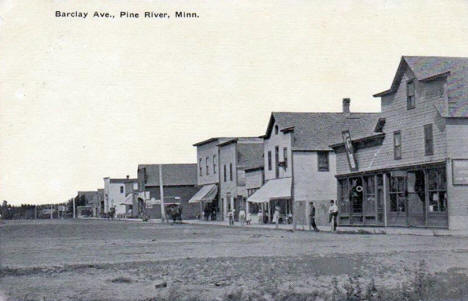Barclay Avenue, Pine River Minnesota, 1910's?