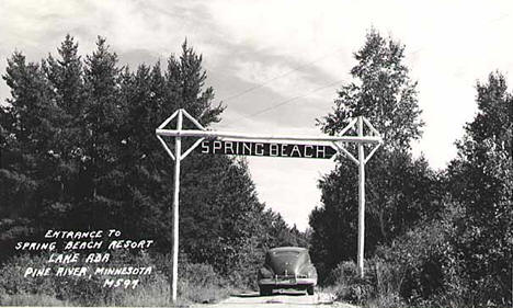 Spring Beach Resort, north of Pine River Minnesota, 1952