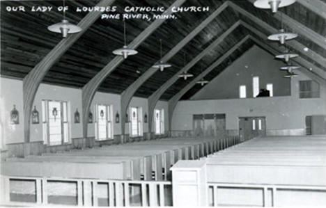 Our Lady of Lourdes Catholic Church, Pine River Minnesota, 1950's