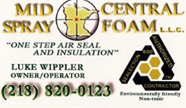 Mid Central Spray Foam, LLC, Pine River Minnesota