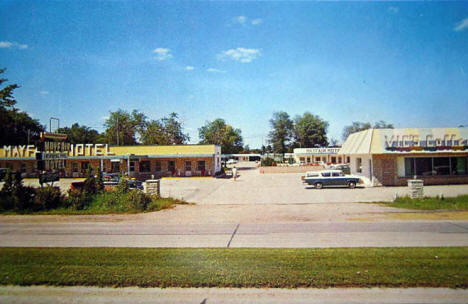 Mayfair Motel and Vic's Coffee Shop, Pipestone MN, 1960's