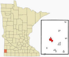 Location of Pipestone, Minnesota