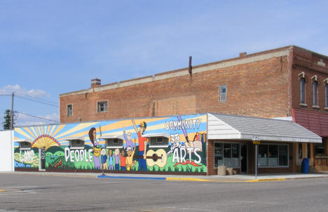 Mural on the side of the Plainview Area Community & Youth Center, Plainview Minnesota, 2010