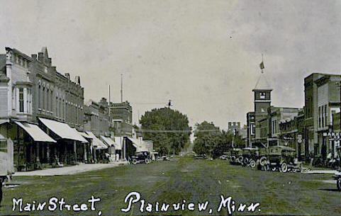 Main Street, Plainview Minnesota, 1924