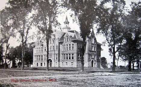 High School, Plainview Minnesota, 1914