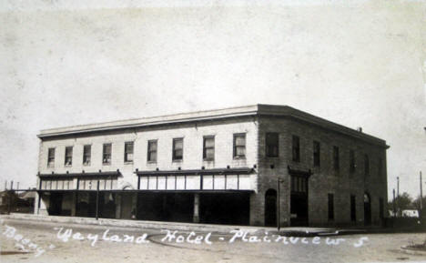 Wayland Hotel, Plainview Minnesota, 1910