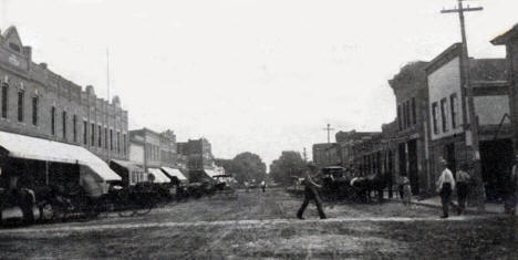 Broadway, Plainview Minnesota, 1910