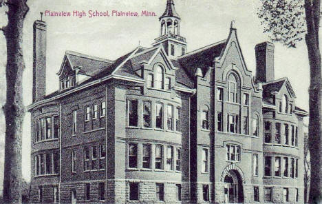 Plainview High School, Plainview Minnesota, 1907
