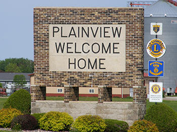 Plainview Minnesota Welcome Sign