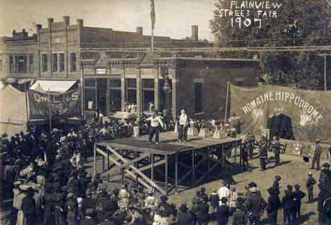Street Fair, Plainview Minnesota, 1907