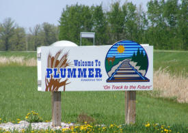 Plummer Welcome Sign