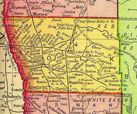 1895 Map of Polk County Minnesota
