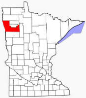 Location of Polk County Minnesota