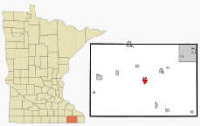 Location of Preston, Minnesota
