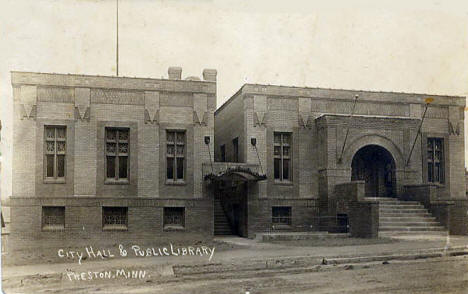 City Hall & Public Library, Preston Minnesota, 1912