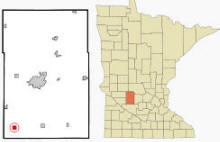 Location of Prinsburg, Minnesota