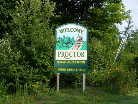 Welcome Sign, Proctor Minnesota, 2009