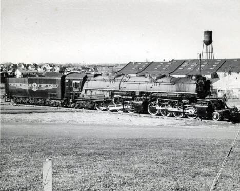 Duluth Missabe and Iron Range Railway train leaving Proctor Minnesota, 1940