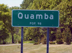 Quamba Minnesota population sign