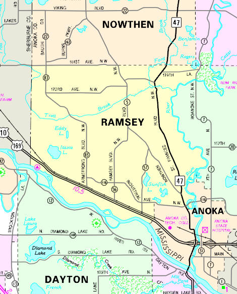 Guide To Ramsey Minnesota - Minnesota highway map