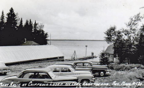 Boat Basin at Chippewa Lodge, Ray Minnesota, 1950's