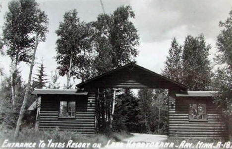 Yates Resort on Lake Kabetogama, Ray Minnesota, 1940's?