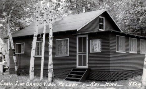 Cabin 3 at Grand View Resort, Ray Minnesota, 1940's?