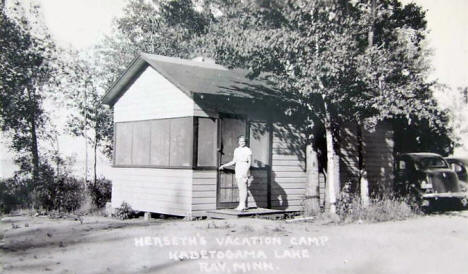 Herseth's Vacation Camp on Lake Kabetogama, Ray Minnesota, 1940's