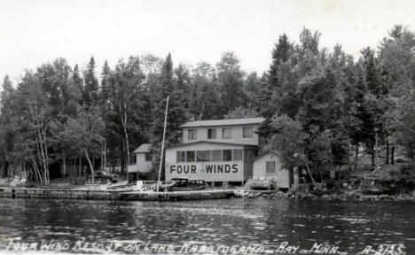 Four Winds Resort on Lake Kabetogama, Ray Minnesota, 1940's