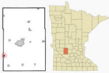 Location of Raymond, Minnesota