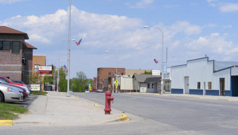 Street scene, Red Lake Falls Minnesota, 2008