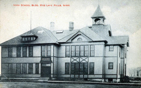 High School Building, Red Lake Falls Minnesota, 1910